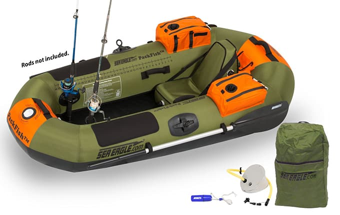 Sea Eagle PackFish 7 Deluxe Fishing Package